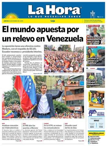 86e49d7df Diario La Hora Loja 24 de Enero 2019 by Diario La Hora Ecuador - issuu