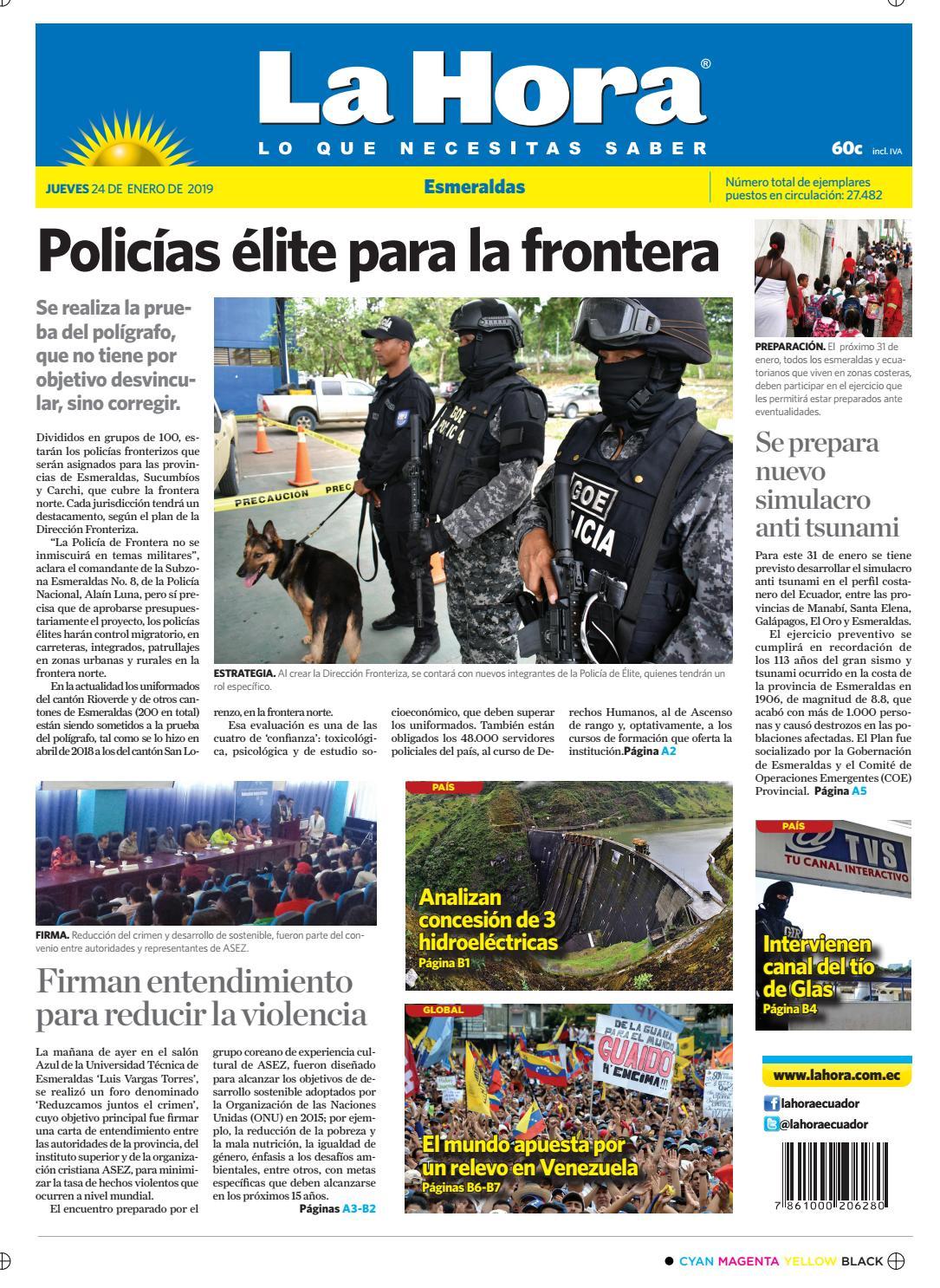592943cfaec Esmeraldas 24 de enero de 2019 by Diario La Hora Ecuador - issuu