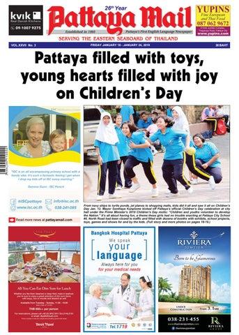 Pattaya Mail - FRIDAY JANUARY 18 - JANUARY 24, 2019 (Vol  XXVII No