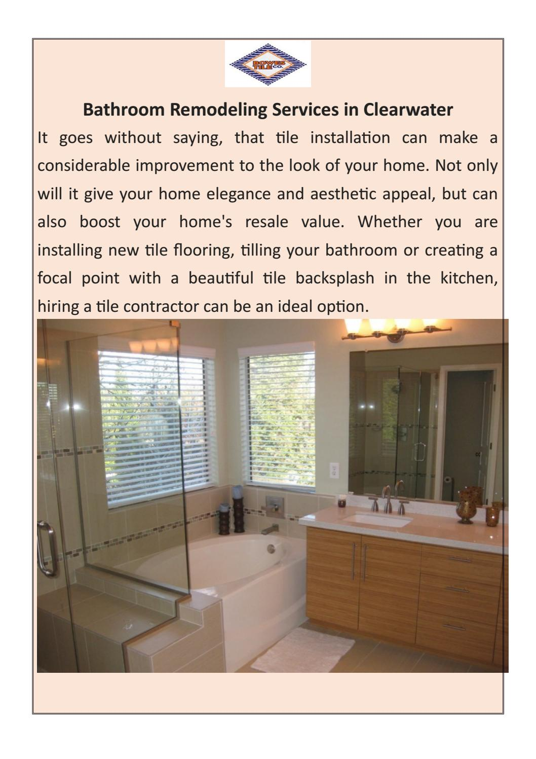 Bathroom Remodeling Clearwater Fl by Bowes Expert Ceramic ...