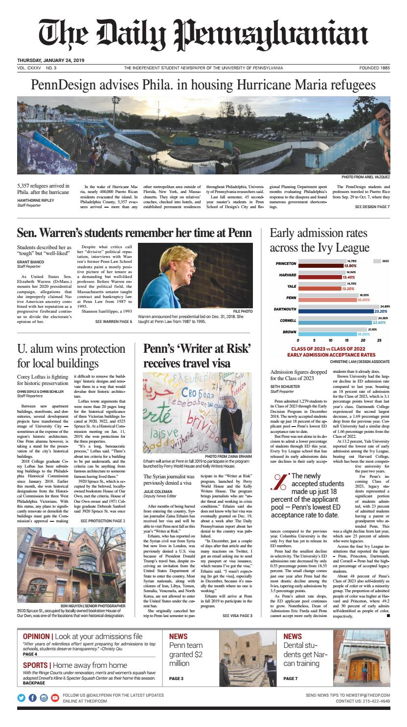 January 24, 2019 by The Daily Pennsylvanian - issuu