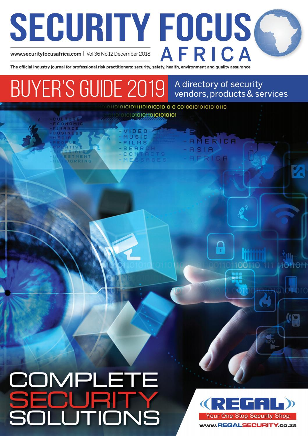 25949361d6 Security Focus Africa Buyers Guide 2019 by Contact Publications - issuu