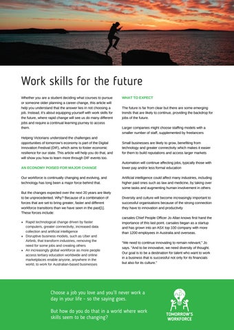 Page 11 of Work skills for the future