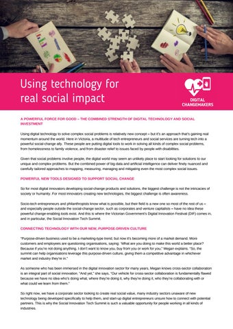 Page 16 of Using technology for real social impact