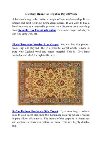 Best Rug Sale For Republic Day 2019 By Rugs And Beyond Issuu
