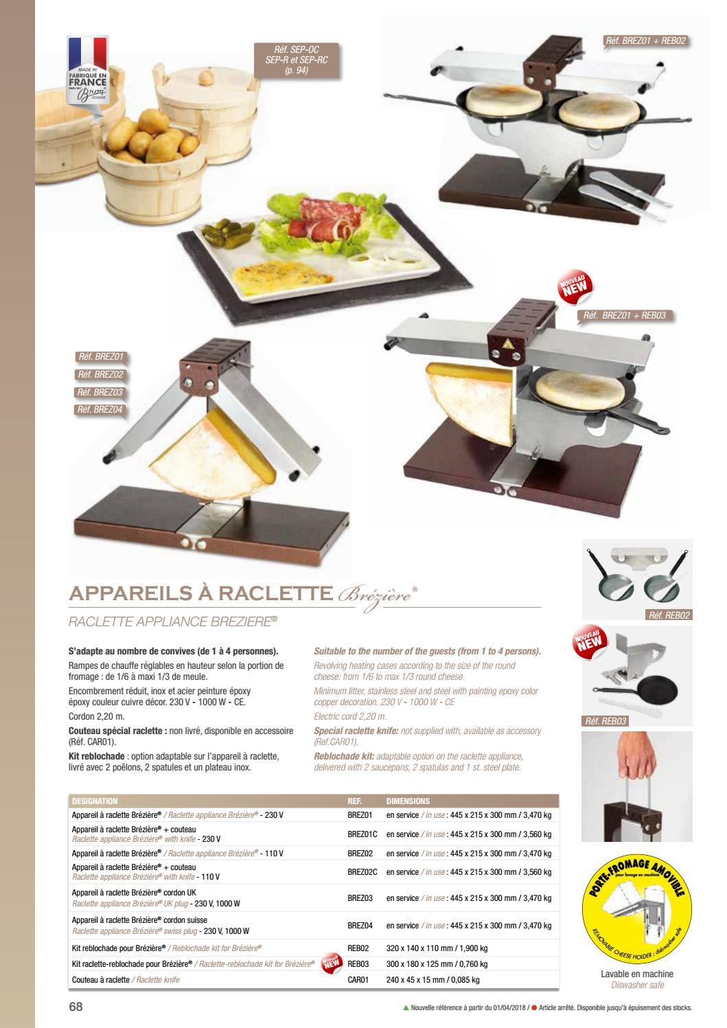 Bron Coucke BREZ01 Appareil à Raclette Brézière