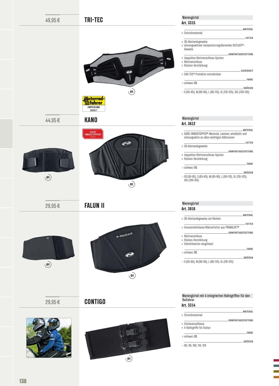Held Nierengürtel Tri-Tec mit SAS-TEC und OUTLAST®-Gewebe schwarz XL