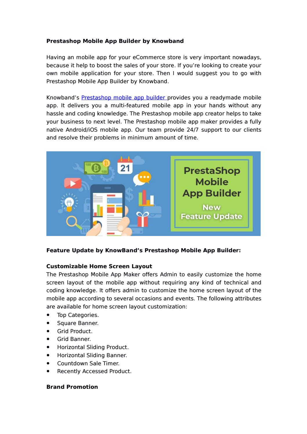 Prestashop Mobile App Builder by KnowBand by Knowband - issuu