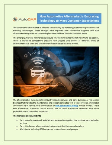 How Automotive Aftermarket is Embracing Technology to Meet Customer
