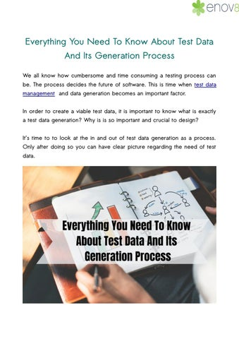 Everything You Need To Know About Test Data And Its