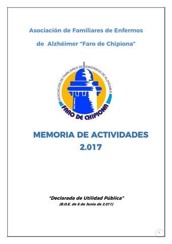 Memoria De Actividades Afa 2017 By Afa Faro De Chipiona Issuu