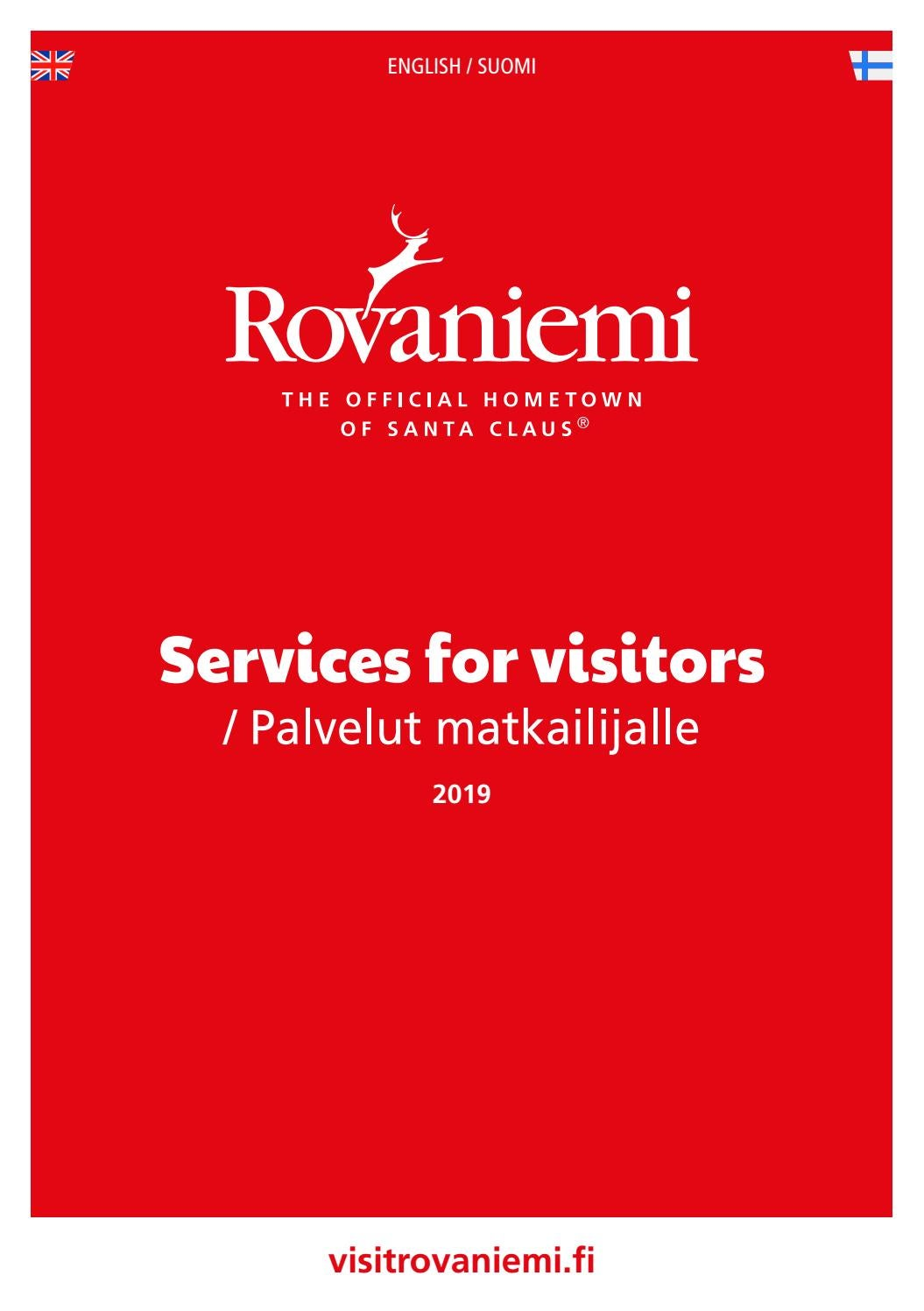Rovaniemi Services For Visitors Palvelut Matkailijalle 2019 By