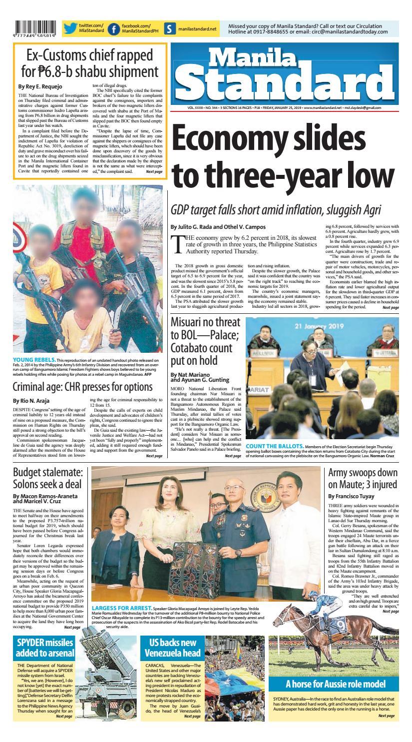 Manila Standard - 2019 January 25 - Friday by Manila