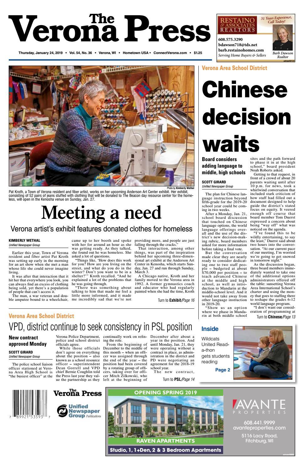 1/24/19 Verona Press by Woodward Community Media - issuu