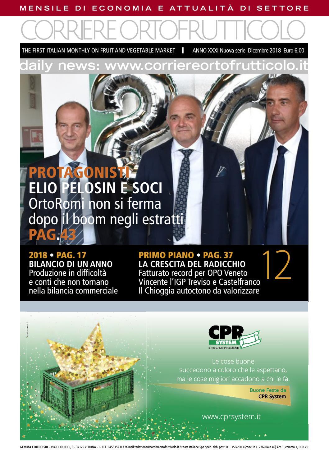 Corriere Ortofrutticolo Dicembre 2018 by Andrea Andre - issuu 14ba03cb9ef8