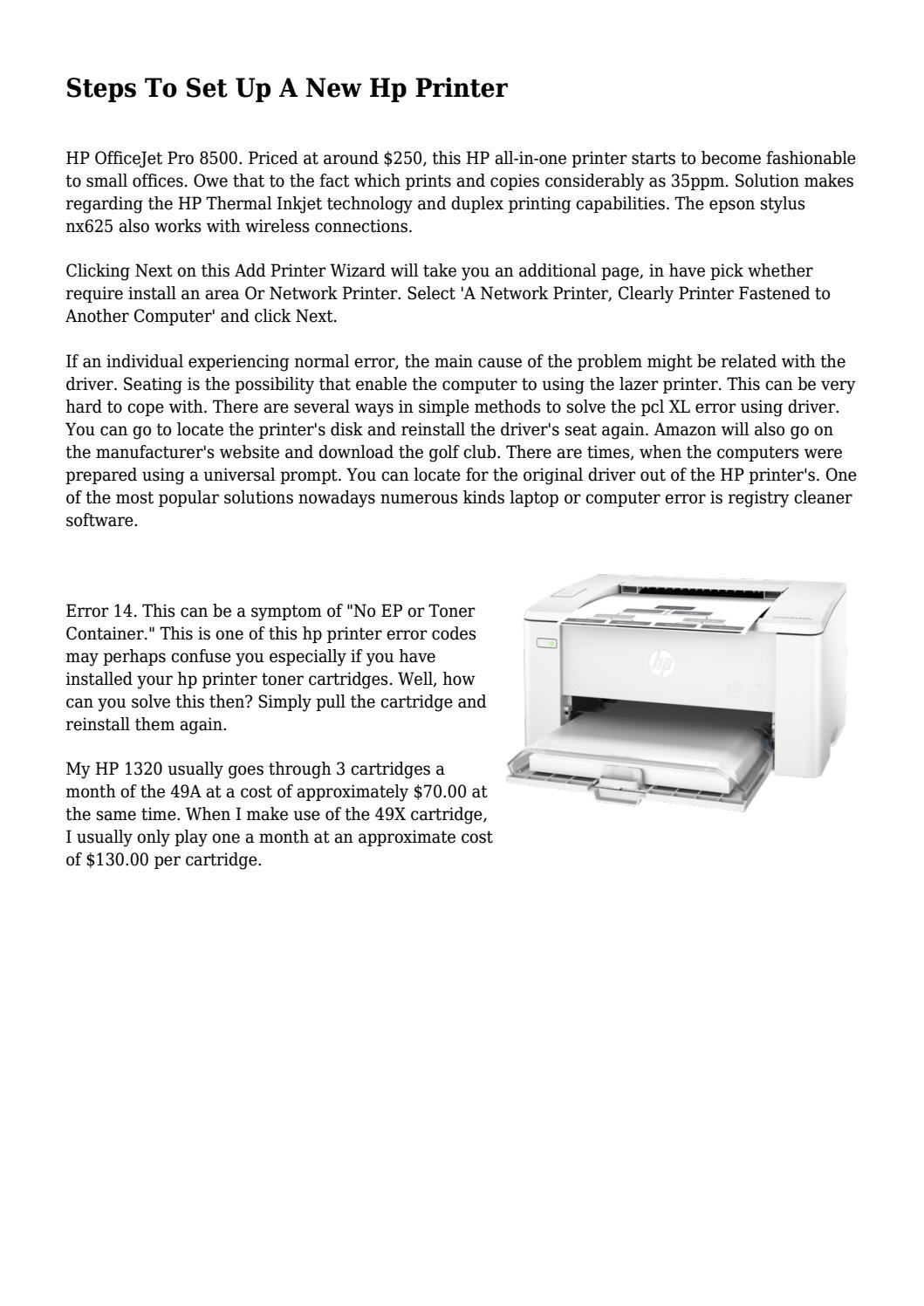Steps To Set Up A New Hp Printer by mindmagdaily - issuu
