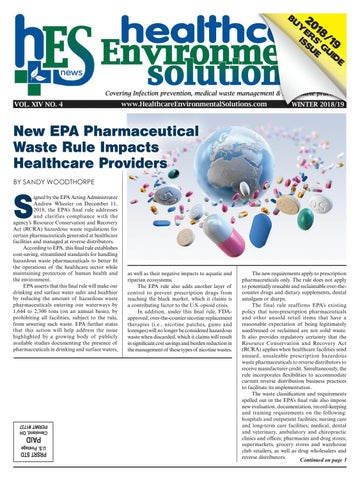 Healthcare Environmental Solutions Winter 2018-19 by Downing