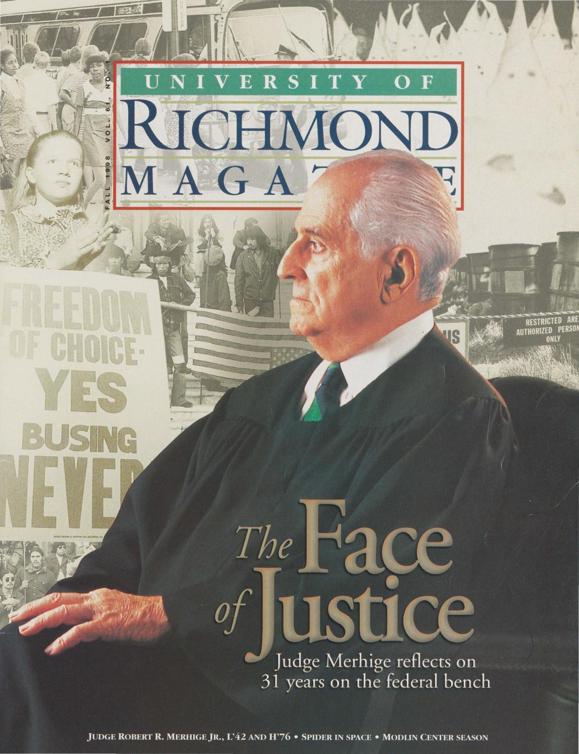 University of Richmond Magazine Fall 1998 by UR Scholarship