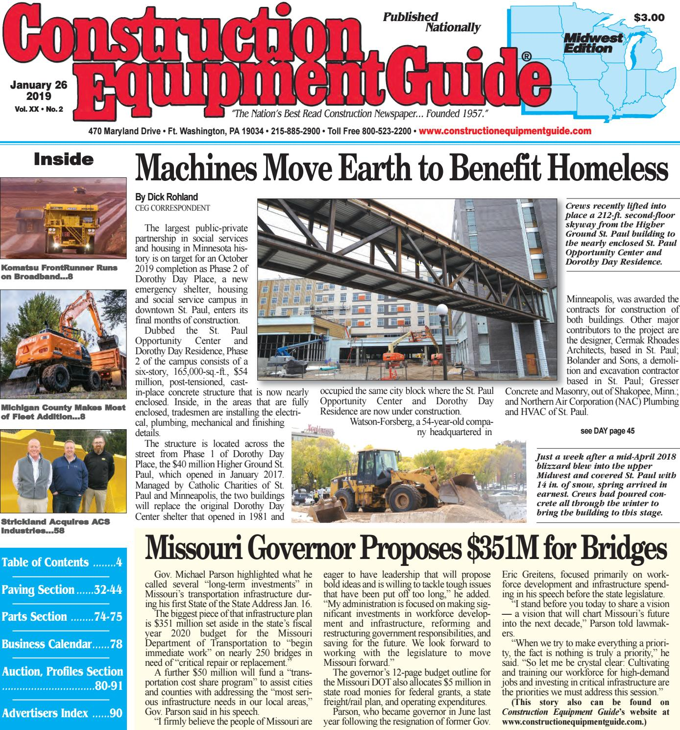 Midwest 2 January 26, 2019 by Construction Equipment Guide - issuu on
