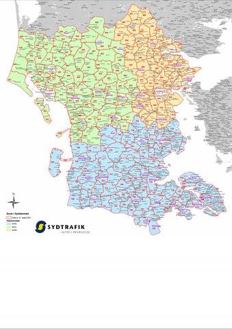 Kort Zoner I Syddanmark 31 August 2012 Vejle Sydo Samt