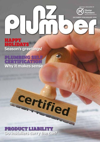 NZ Plumber December 2018-January 2019 by NZ Plumber - issuu