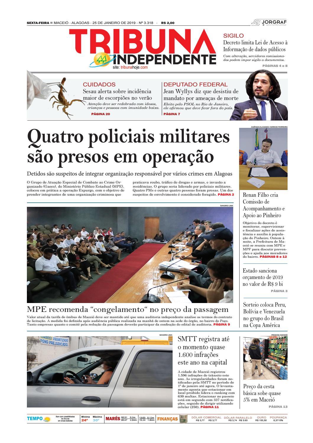 Edição número 3318 - 25 de janeiro de 2019 by Tribuna Hoje - issuu 1c5273ce5d