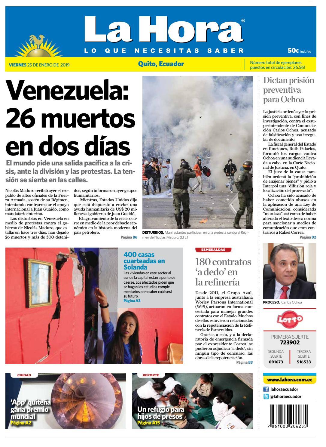 Quito 25 de enero de 2019 by Diario La Hora Ecuador - issuu 00467828dd5