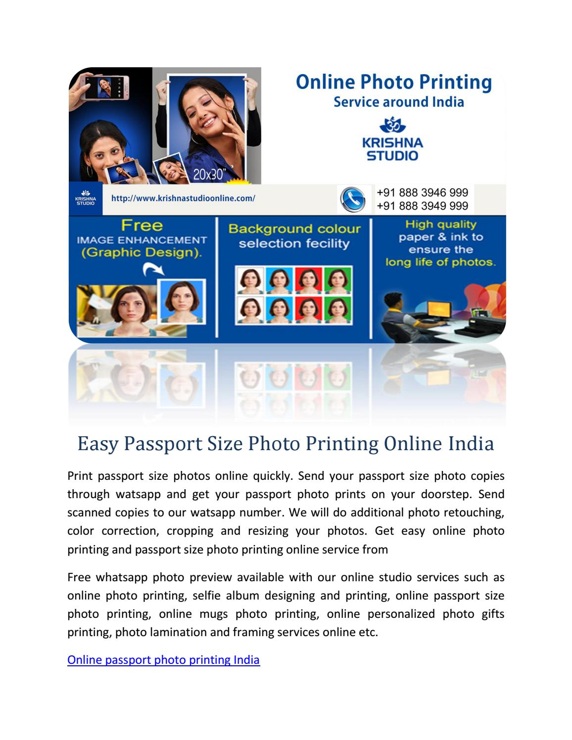 Easy Passport Size Photo Printing Online India by
