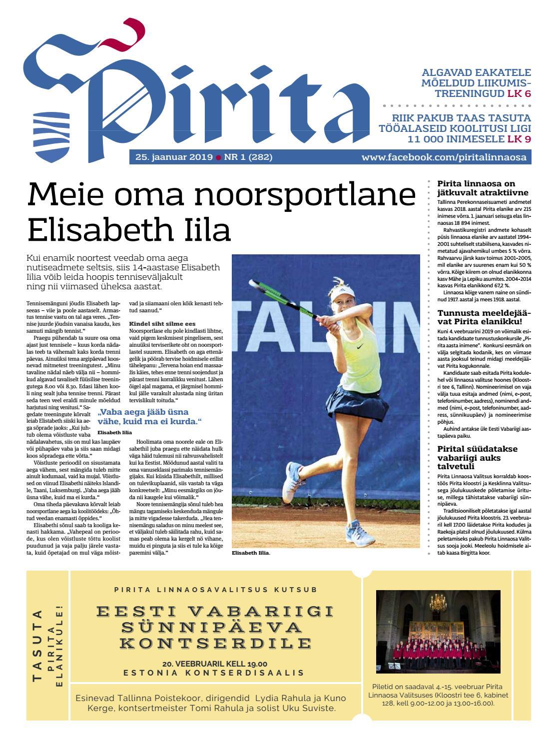 1d565a74331 Pirita ajaleht 25.01.2019 by Piritalinnaosavalitsus - issuu