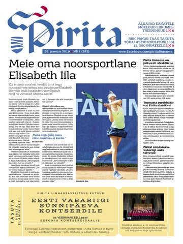 008a6266985 Pirita ajaleht 25.01.2019 by Piritalinnaosavalitsus - issuu