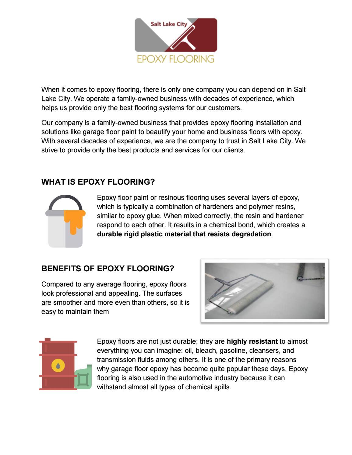 Epoxy Flooring Salt Lake City: Best Epoxy Flooring Installation