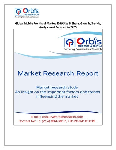 Global Mobile Fronthaul Market Size, Status and Forecast
