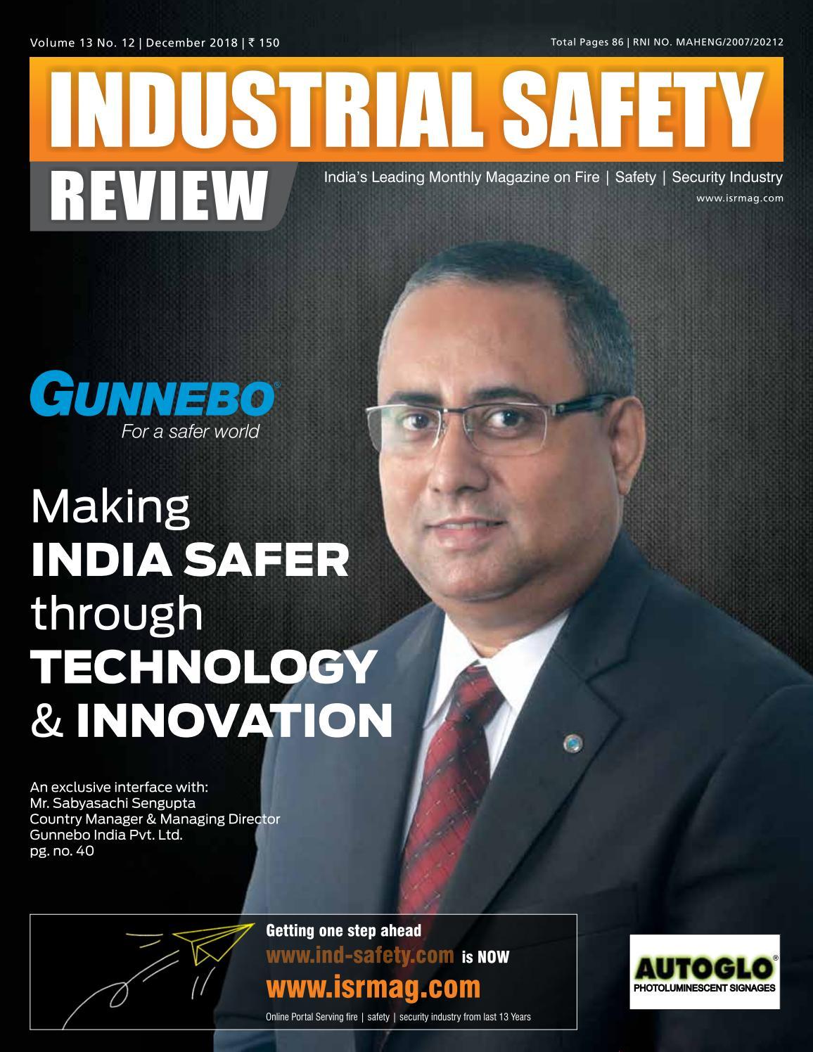 INDUSTRIAL SAFETY - DECEMBER 2018 by Divya Media