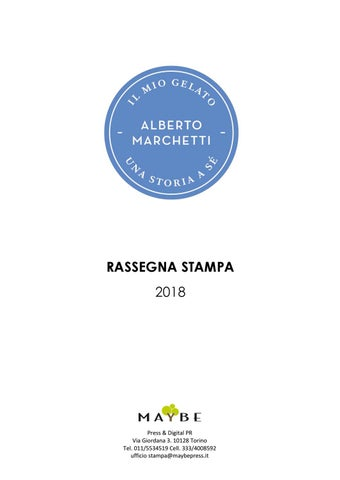 Rassegna Stampa 2018 Alberto Marchetti by maybe ufficio stampa - issuu f7b584302b01
