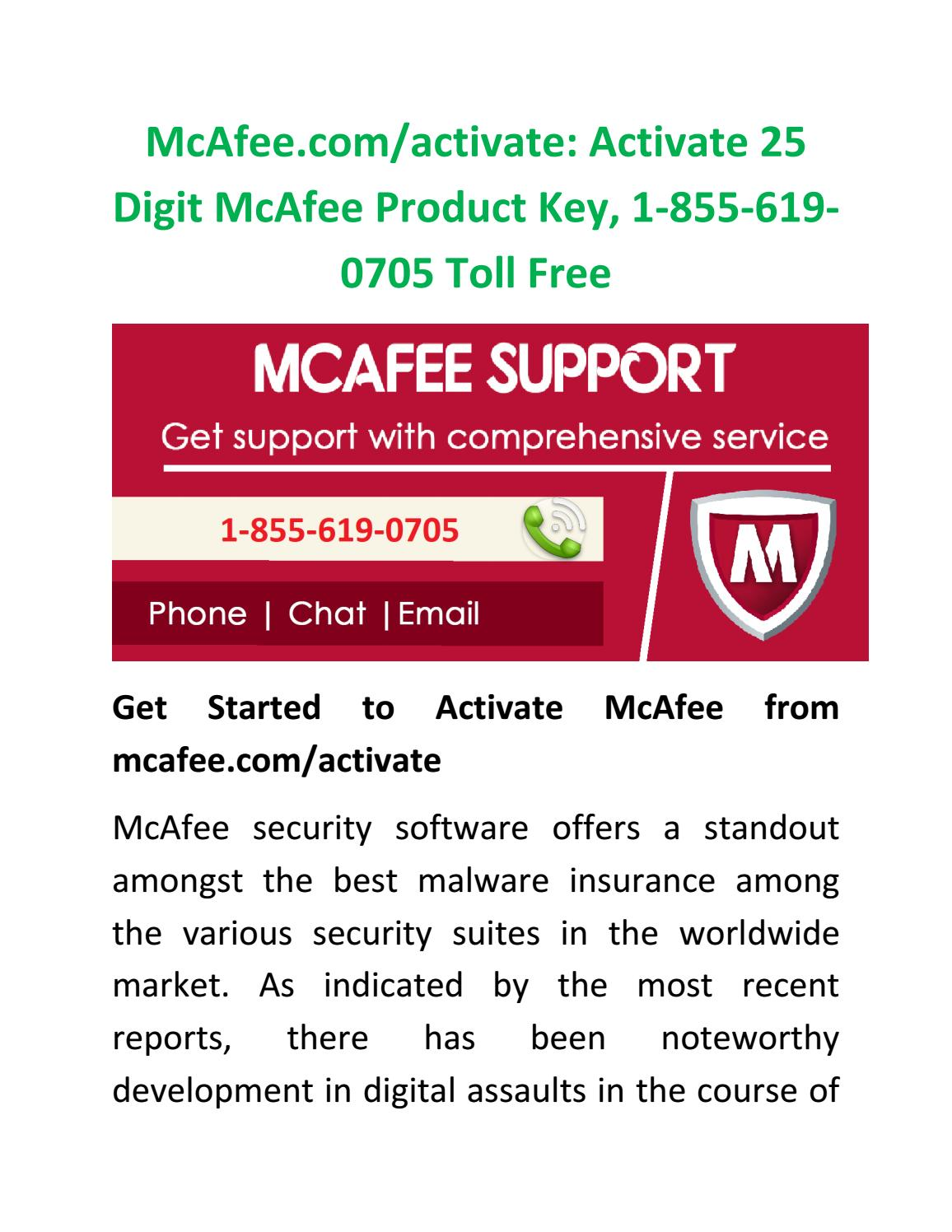 McAfee com/activate: Activate 25 Digit McAfee Product Key, 1