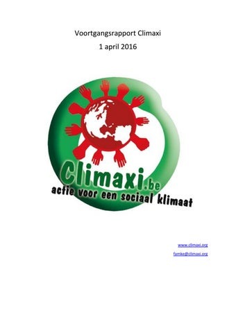 Voortgangsrapport 2016 by Climaxi vzw - issuu