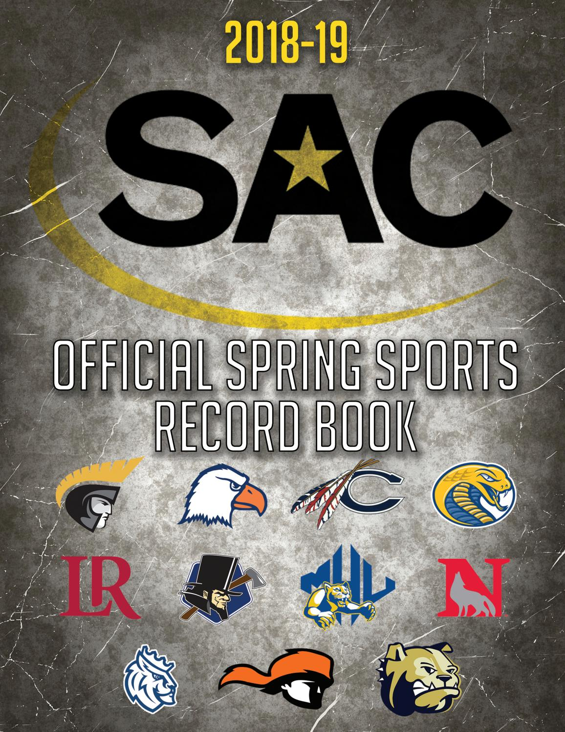 2018-19 SAC Spring Sports Record Book by The SAC - issuu
