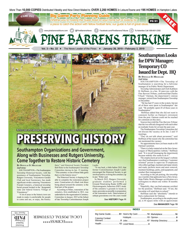 Jan 26 2019 Pine Barrens Tribune By Pine Barrens Tribune Issuu