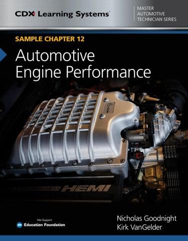 CDX Automotive Engine Performance, Sample Chapter 12 by Jones