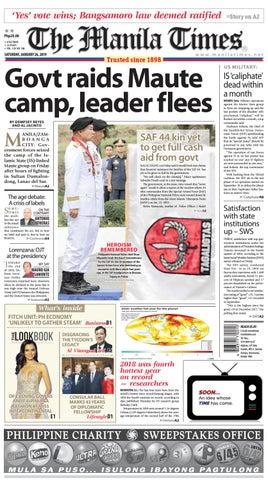 THE MANILA TIMES | JANUARY 26, 2019 by The Manila Times - issuu