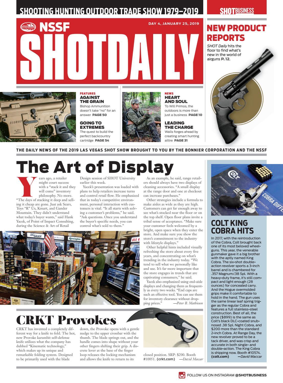 b098e86e0f3c4 SHOT Daily - Day 4 - 2019 SHOT Show by SHOT Business - issuu