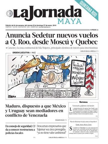 La Jornada Maya · viernes 25 de enero de 2019 by La Jornada Maya - issuu 5f8d6bb3b76ac