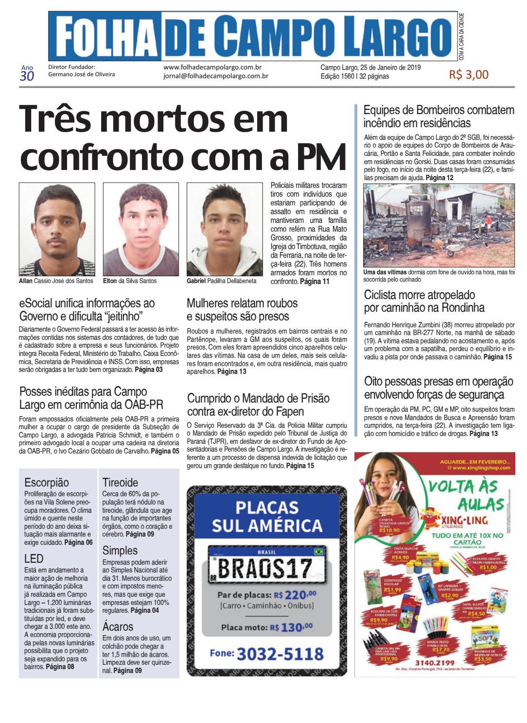 3f6e0d5b74bf1 Folha de Campo Largo by Folha de Campo Largo - issuu