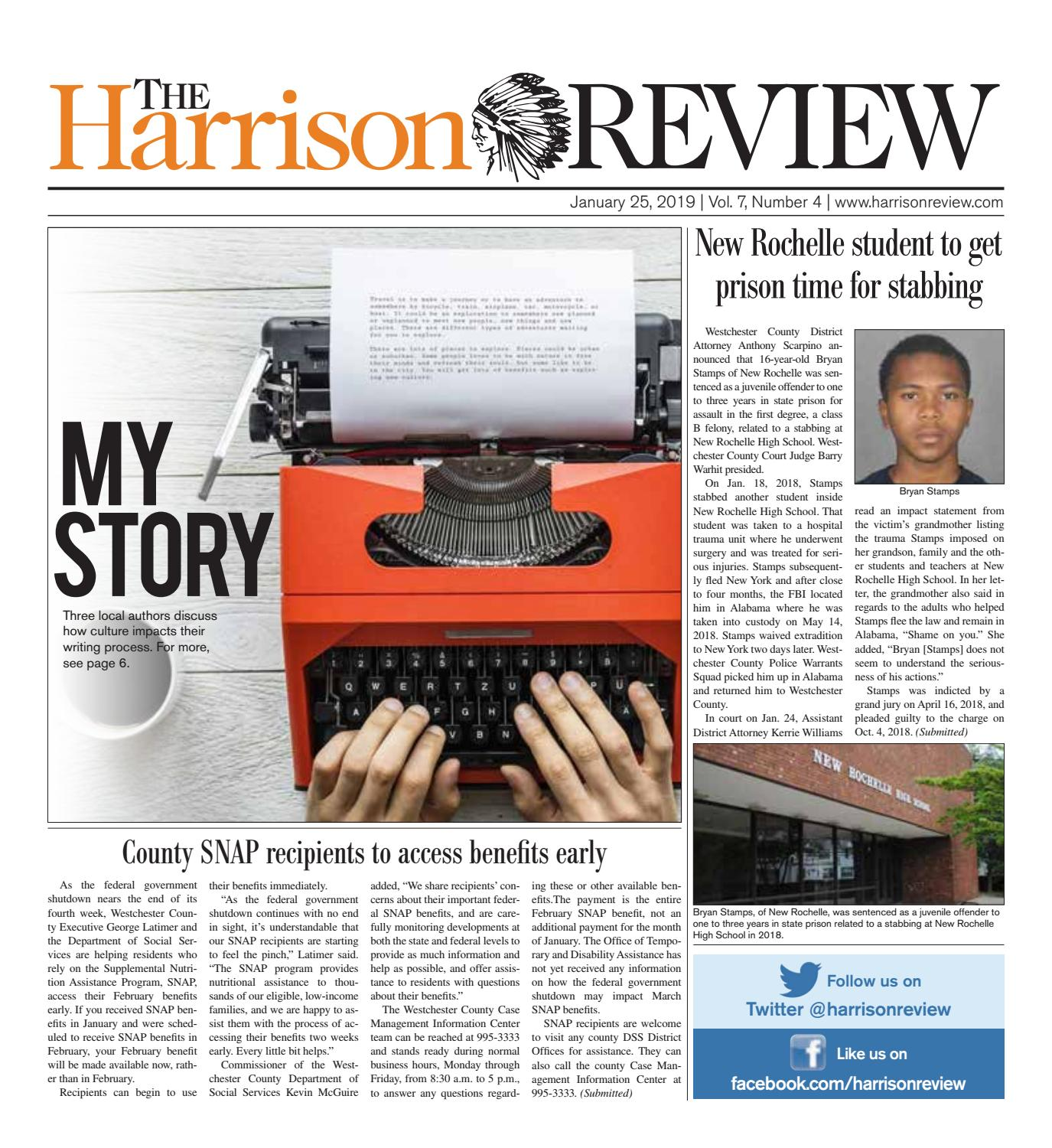 Janaury 25 2019 By The Harrison Review