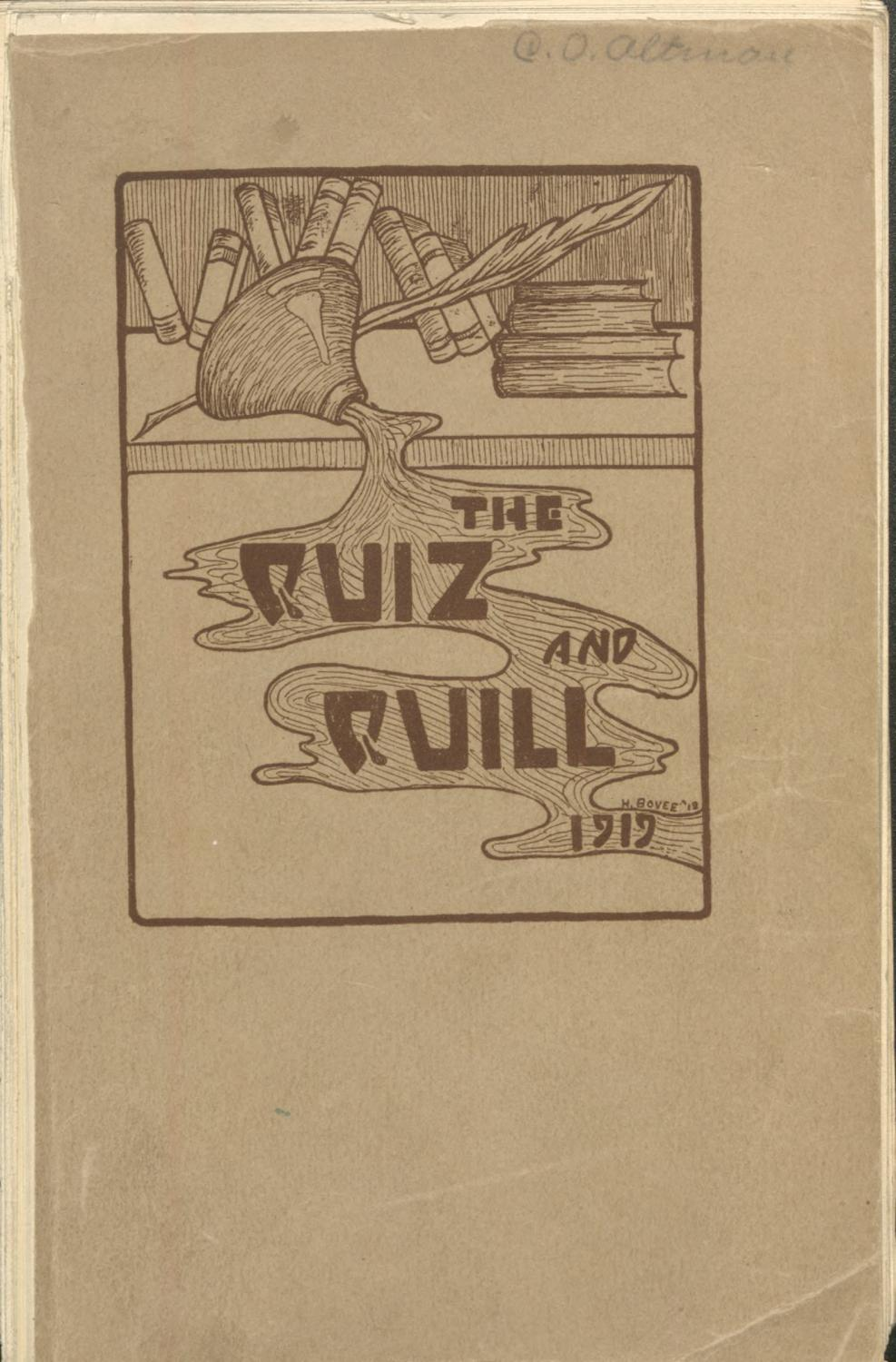 1919 Quiz And Quill By Otterbein University Issuu