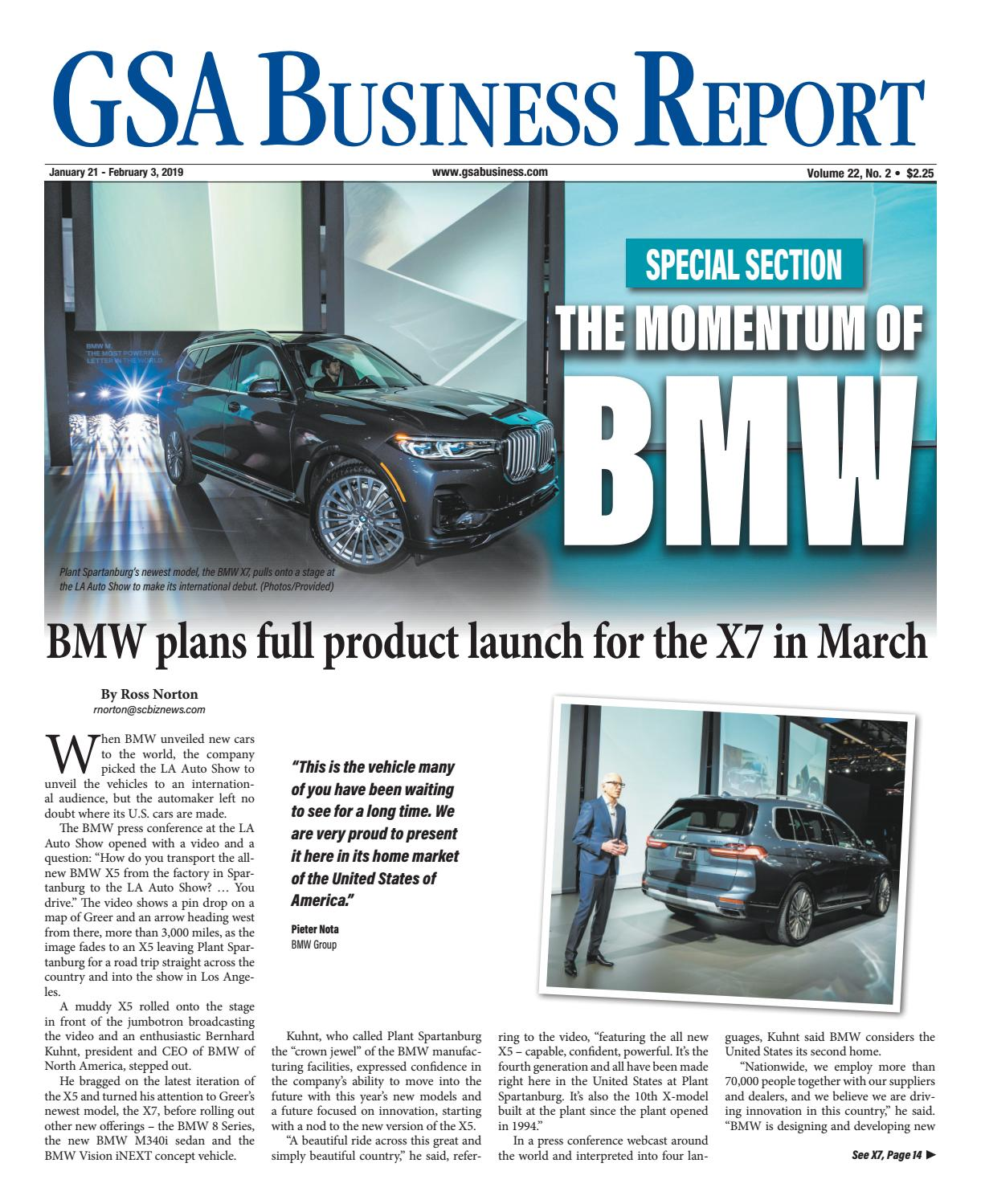 The Momentum of BMW - GSA 1 21 19 Special Section by SC BIZ