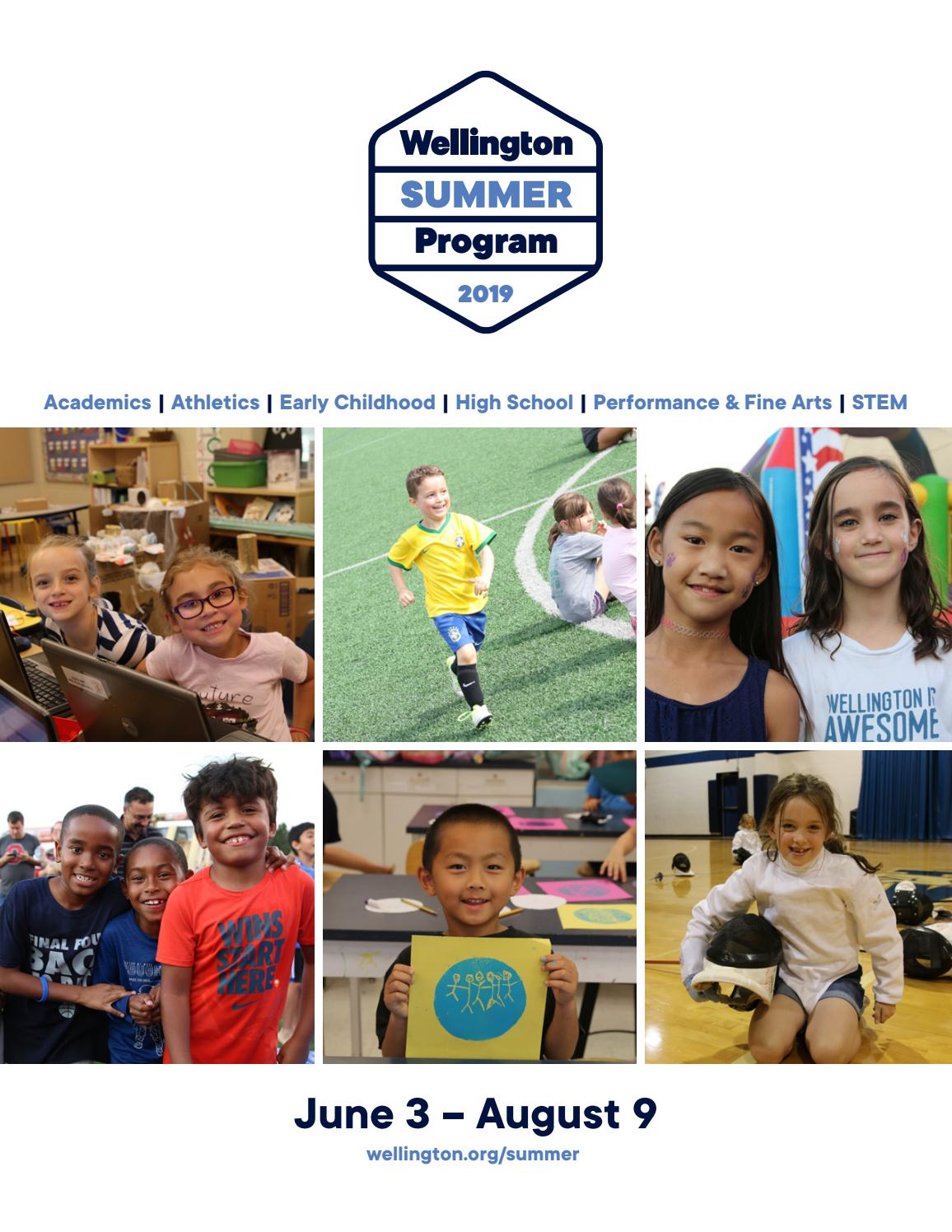 Wellington Summer Program 2019 by Wellington - issuu
