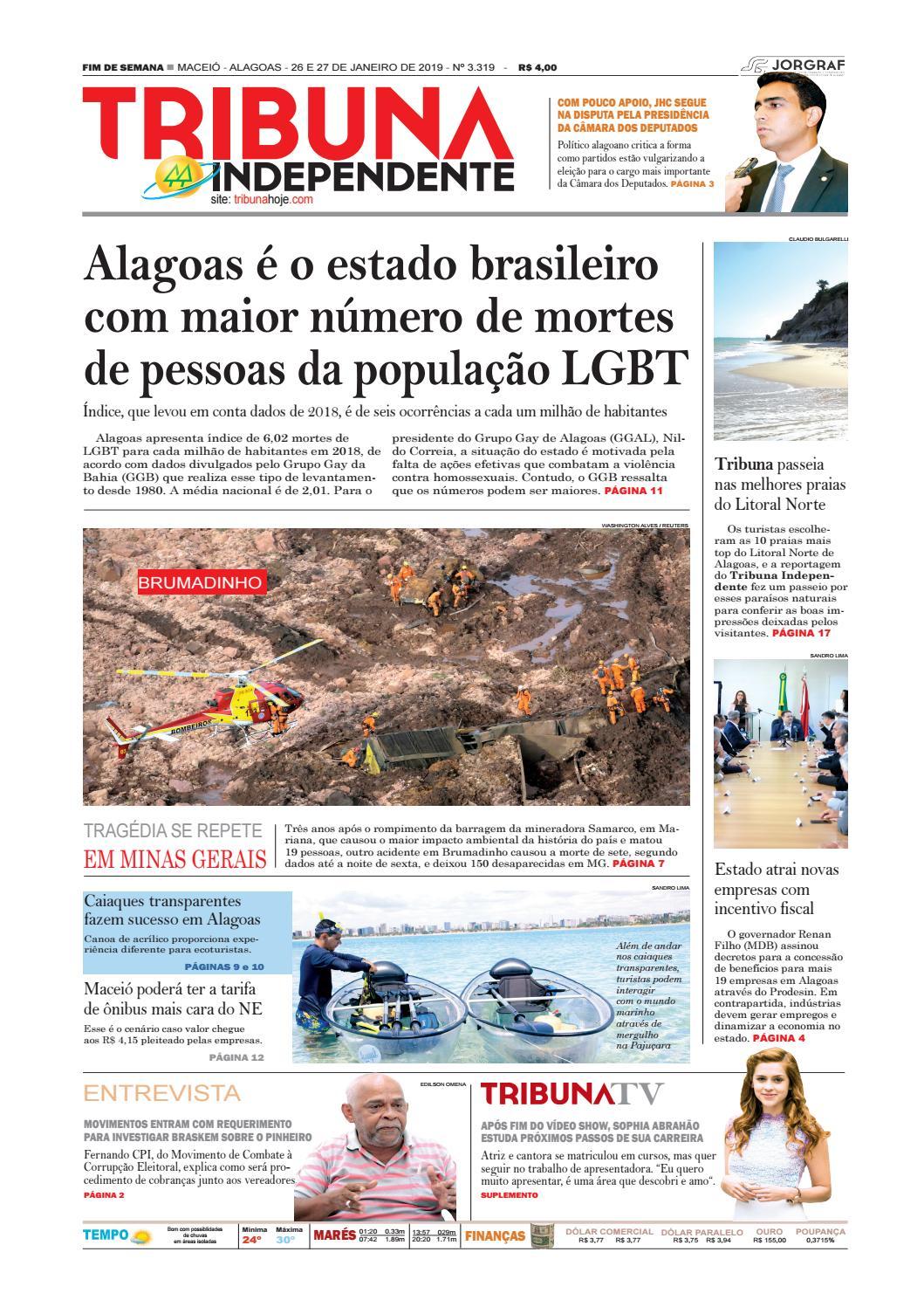 Edição número 3319 - 26 e 27 de janeiro de 2019 by Tribuna Hoje - issuu b9d1b04f1c8
