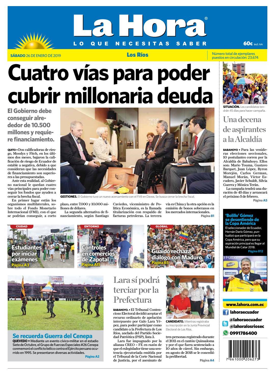 Los Ríos 26 de enero de 2019 by Diario La Hora Ecuador - issuu d66d6a2b8bc9e