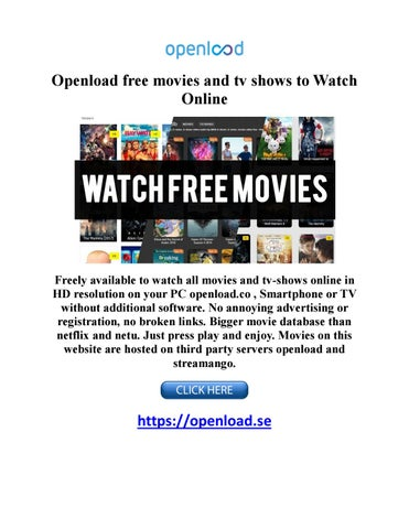 Openload - Movies and TV Series Online Free by Megan Wade - issuu